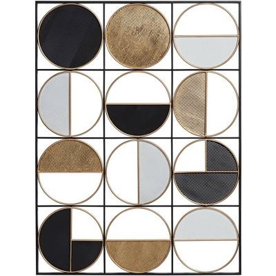 "Newhill Designs Half Circle 40"" High Multi-Color Metal Wall Art"