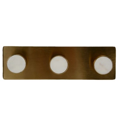3pc Metal And Stone Wall Hooks Light Gold - Project 62™