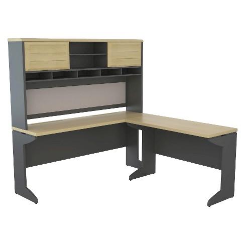 Aerotech Bridge L-Shaped Desk with Hutch Bundle - Room & Joy - image 1 of 4