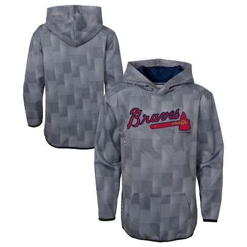 low priced 87b94 16cd5 MLB Atlanta Braves Boys' First Pitch Gray Poly Hoodie
