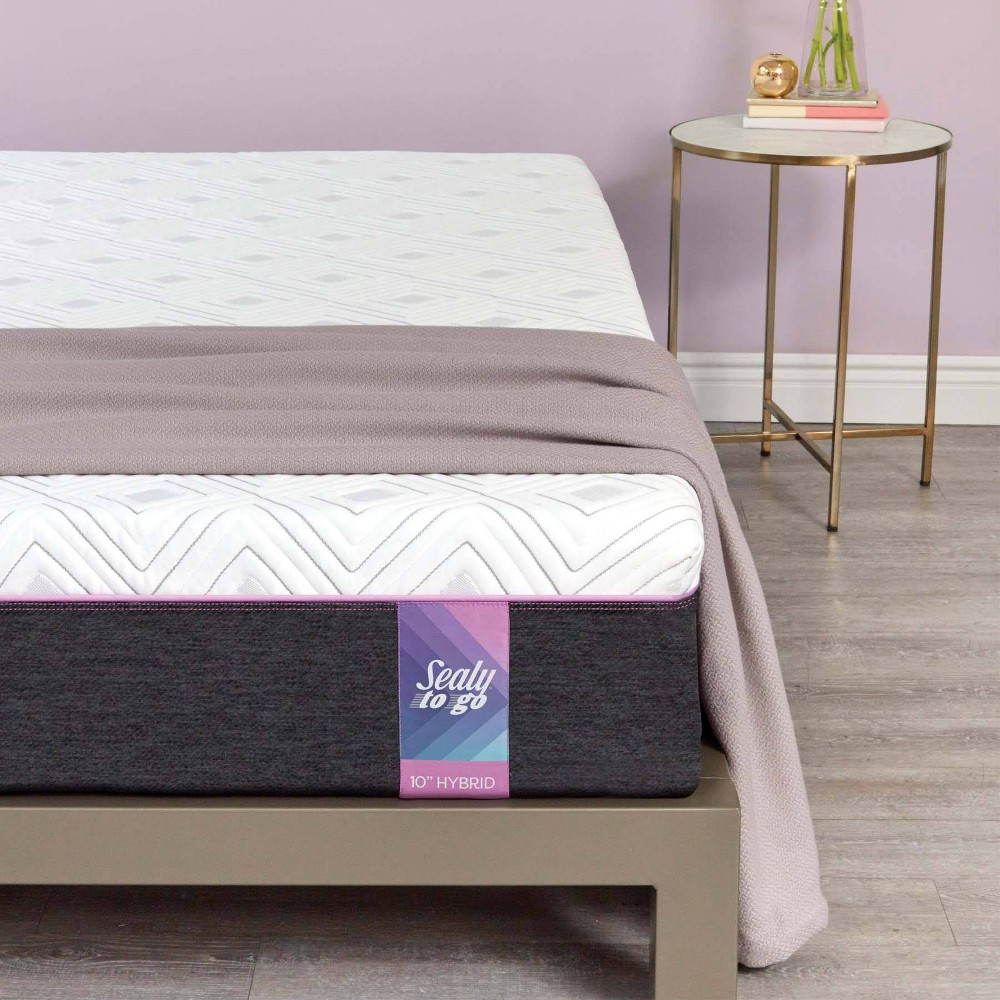 "Image of ""10.5"""" Hybrid Mattress - Sealy - California King, White"""