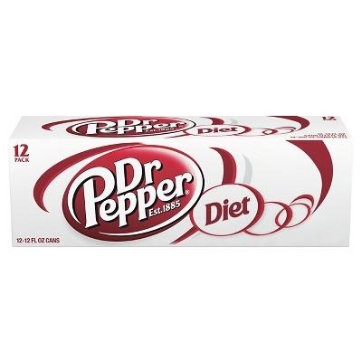 Diet Dr Pepper - 12pk/12 fl oz Cans