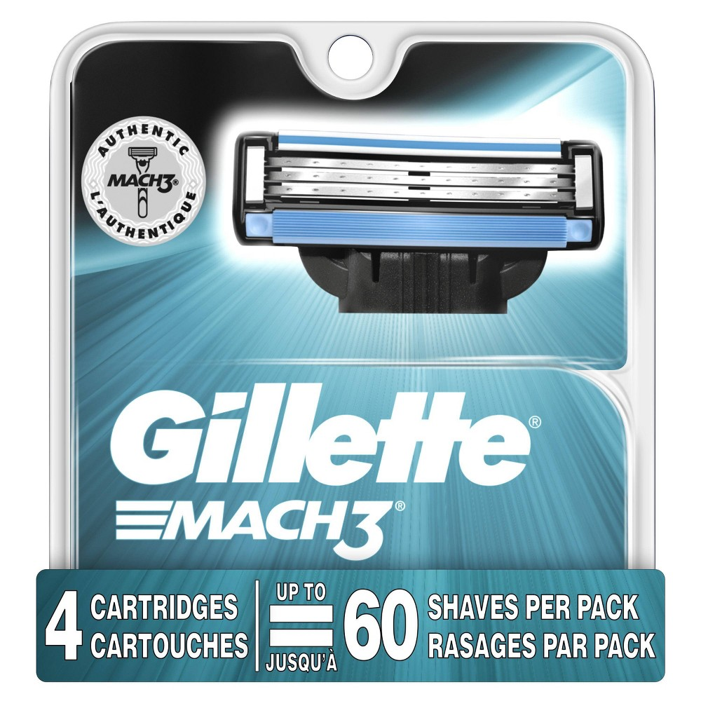 Image of Gillette Mach3 Men's Razor Blade Refills - 4ct
