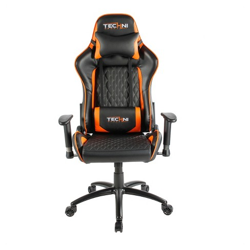 Outstanding Ts 5000 Ergonomic High Back Computer Racing Gaming Chair Hyper Orange Techni Sport Squirreltailoven Fun Painted Chair Ideas Images Squirreltailovenorg