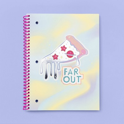 More Than Magic™ Spiral 1-Subject Happy Meal Notebook Far Out Pizza Spot Silver Foil