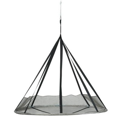 7' Flying Saucer Hanging Patio Hammock with Net - Silver - FlowerHouse