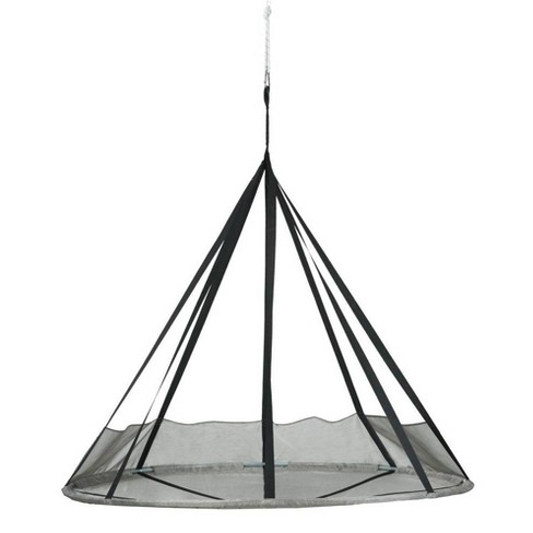 7' Flying Saucer Hanging Patio Hammock with Net - Silver - FlowerHouse - image 1 of 2