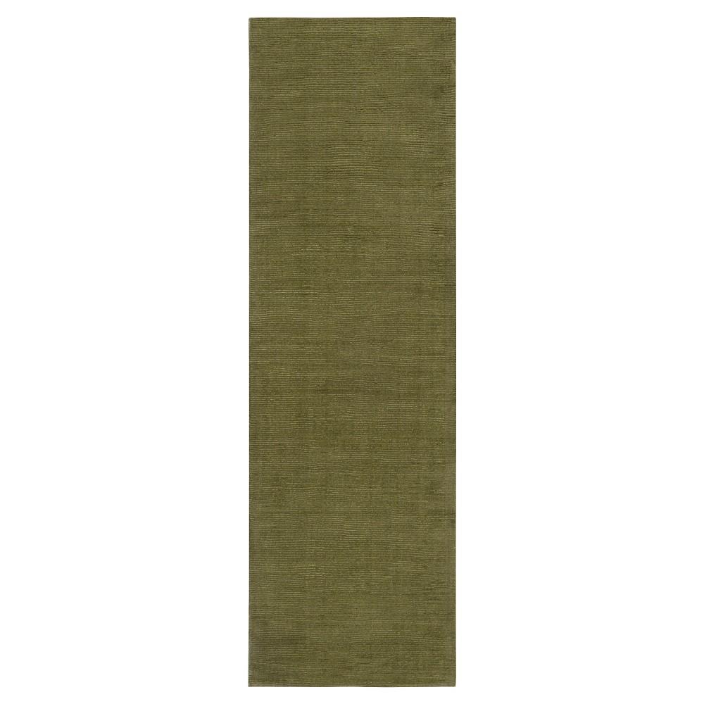 Green Solid Loomed Runner - (2'6X8' Runner) - Surya