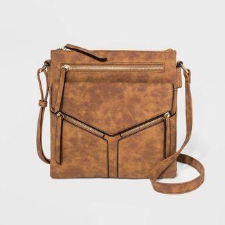 VR NYC Tammi Crossbody Messenger Bag - Cognac