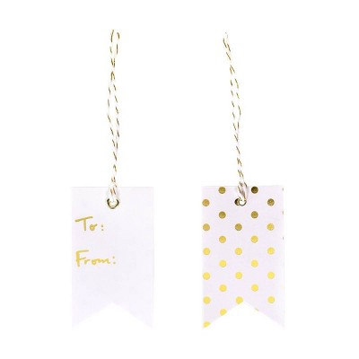 To&From Gift Tag White/Gold - Spritz™