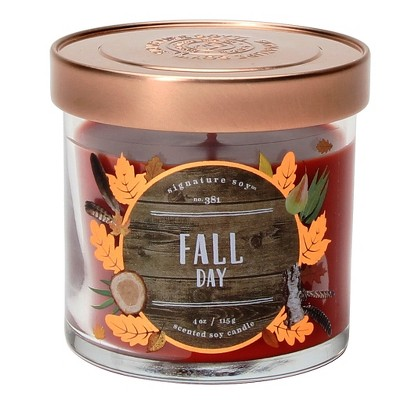 Jar Candle - 4oz - Fall Day - Signature Soy