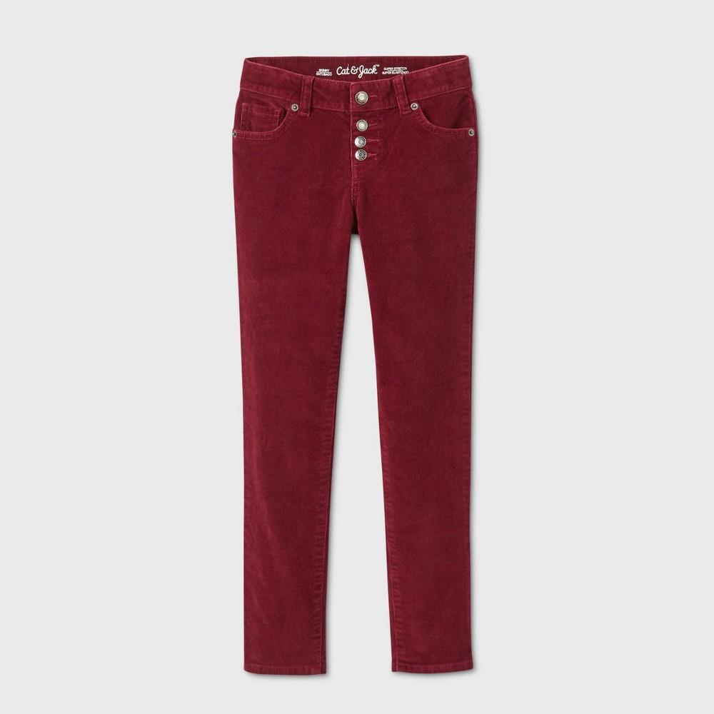 Girls 39 Skinny Corduroy Low Rise Jeans Cat 38 Jack 8482 Burgundy 5 Slim