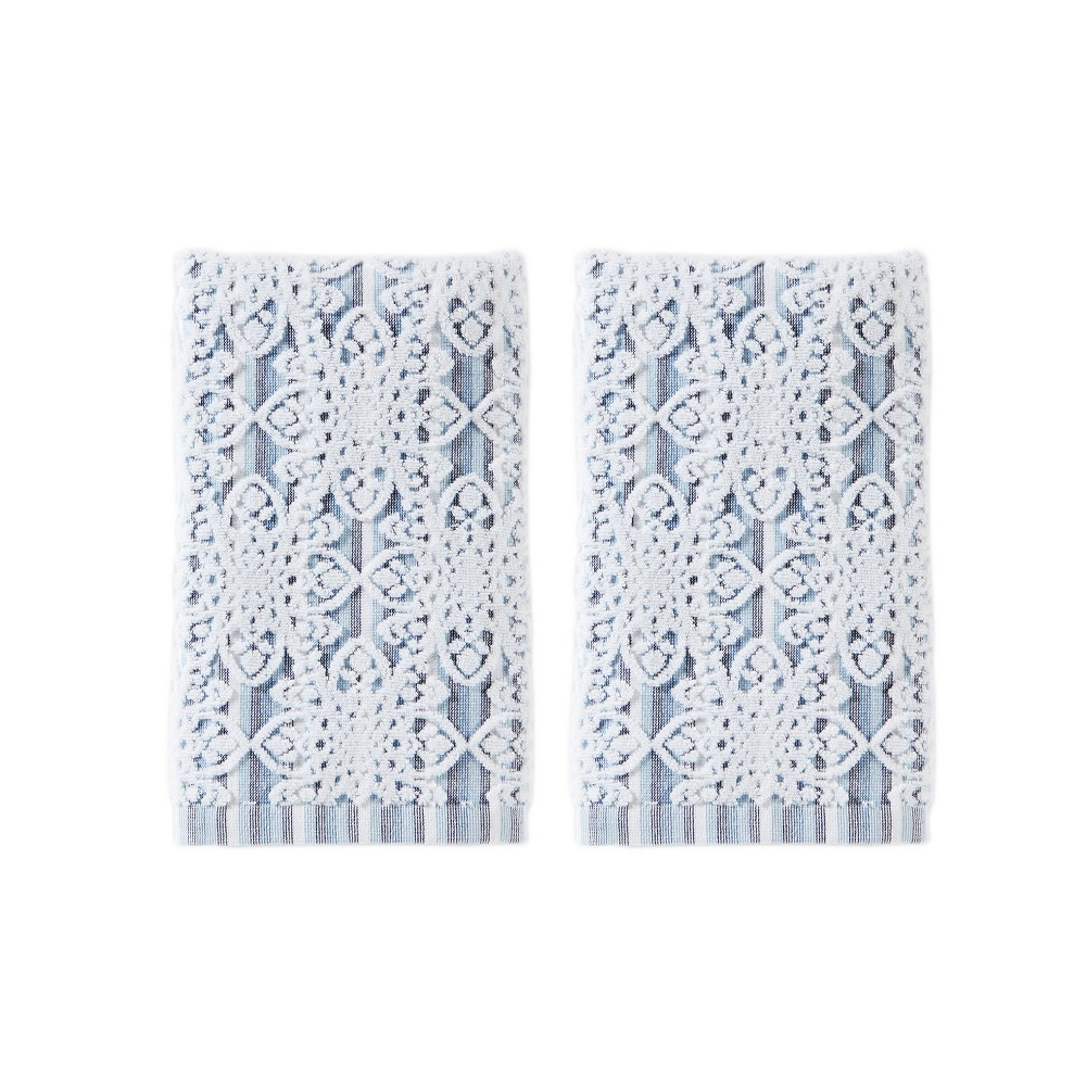 Image of 2pc Kali Hand Towel Set Gray - Saturday Knight Ltd.