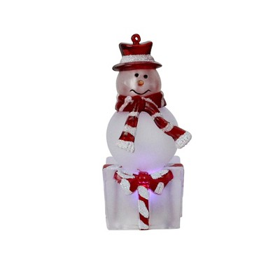 """Northlight 4"""" LED Lighted Color Changing Snowman with Top Hat Christmas Table Top Decoration"""