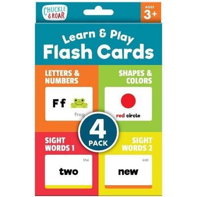 Chuckle & Roar Learn & Play Flash Cards - 4pk