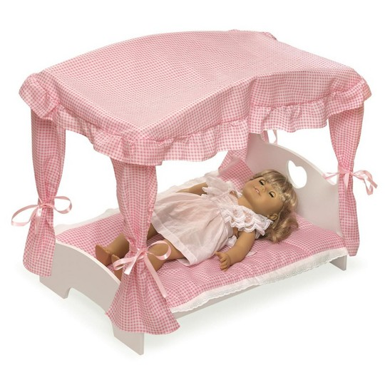Badger Basket Doll Canopy Bed image number null