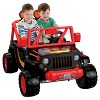 Power Wheels 12V Tough Talking Jeep Powered Ride-On - Black/Red - image 2 of 4
