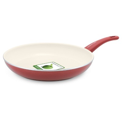 GreenLife 12  Ceramic Non-Stick Open Frypan Burgundy
