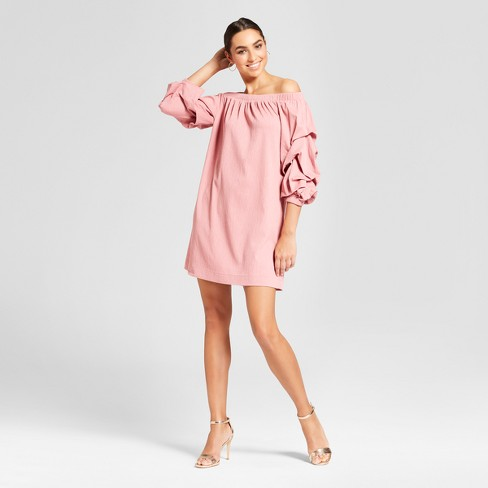 Women s Off The Shoulder Dress - Mossimo™ Pink   Target bca90f1a38