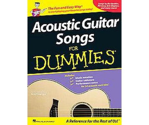 Acoustic Guitar Songs for Dummies (Paperback) - image 1 of 1