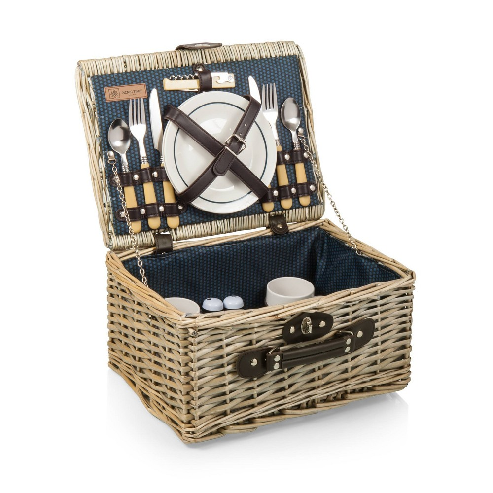 Image of Picnic Time Catalina Wine and Cheese Basket - Dahlia Collection