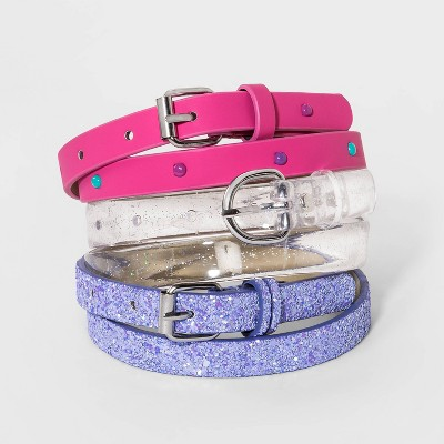 Girls' 3pk Belt - Cat & Jack™