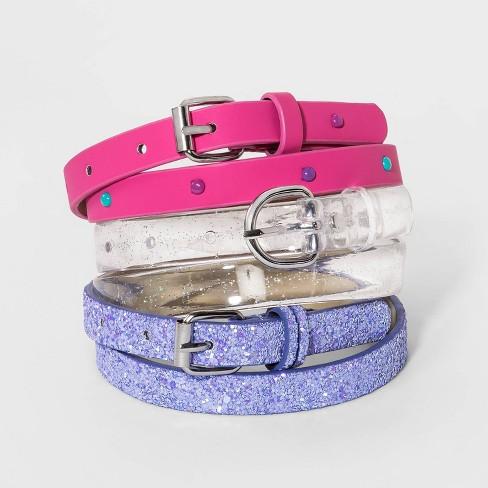Girls' 3pk Belt - Cat & Jack™ - image 1 of 1
