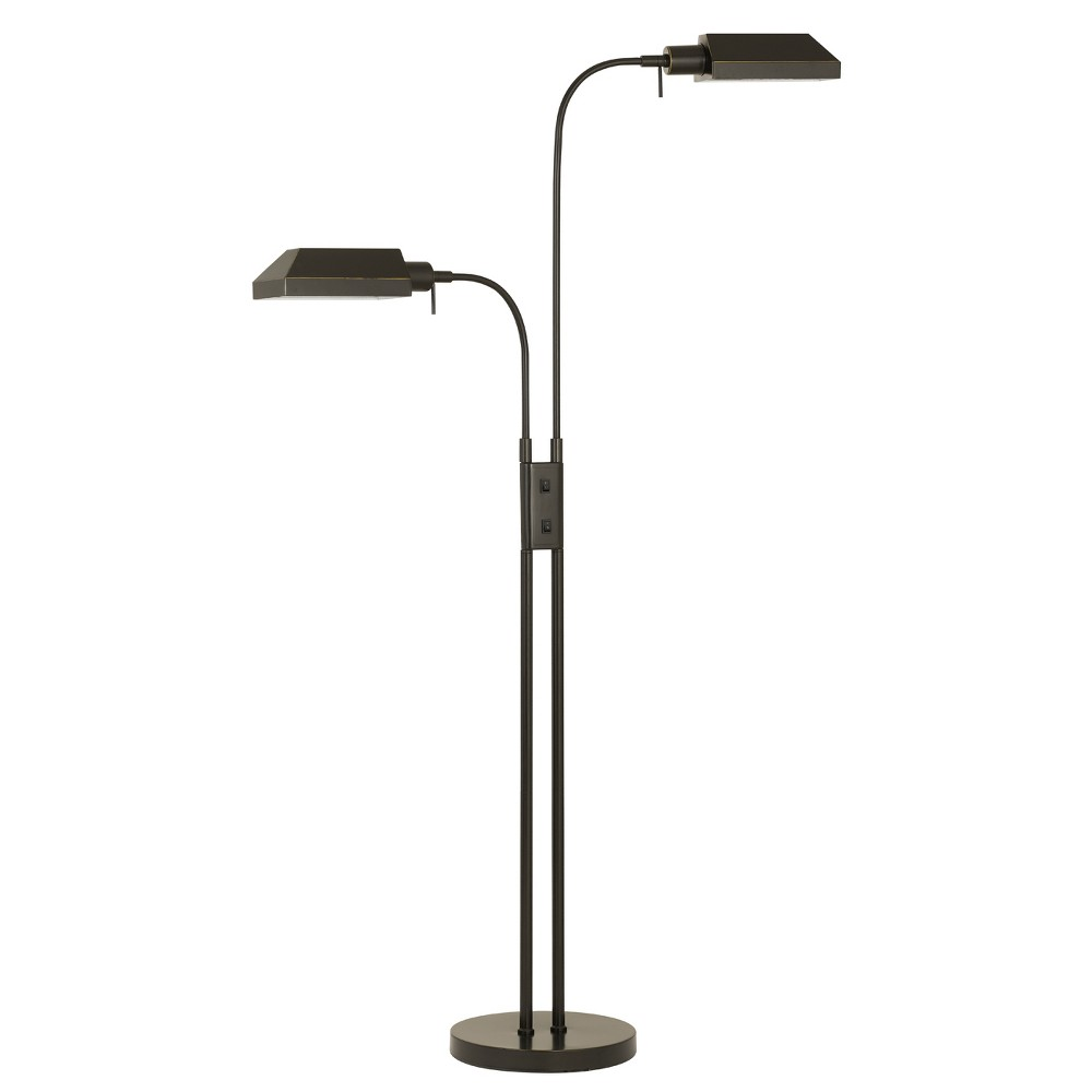 Pharmacy Dual Height Floor Lamp With On Off Rocker Switch Bronze 6