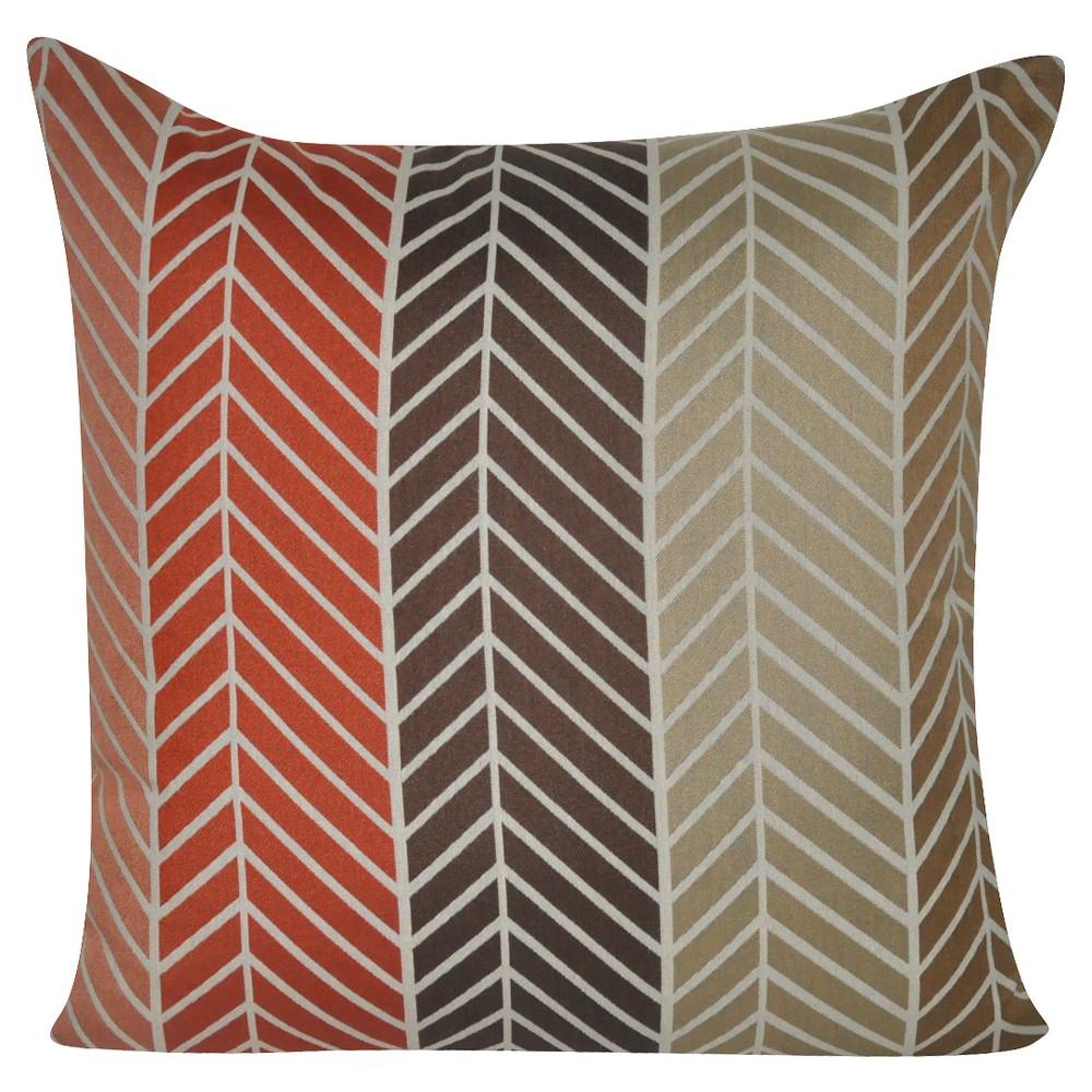 Taupe Ombre Herringbone Throw Pillow (22