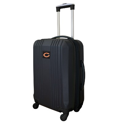 """NFL Chicago Bears 21"""" Hardcase Two-Tone Spinner Wheels Carry On Suitcase"""