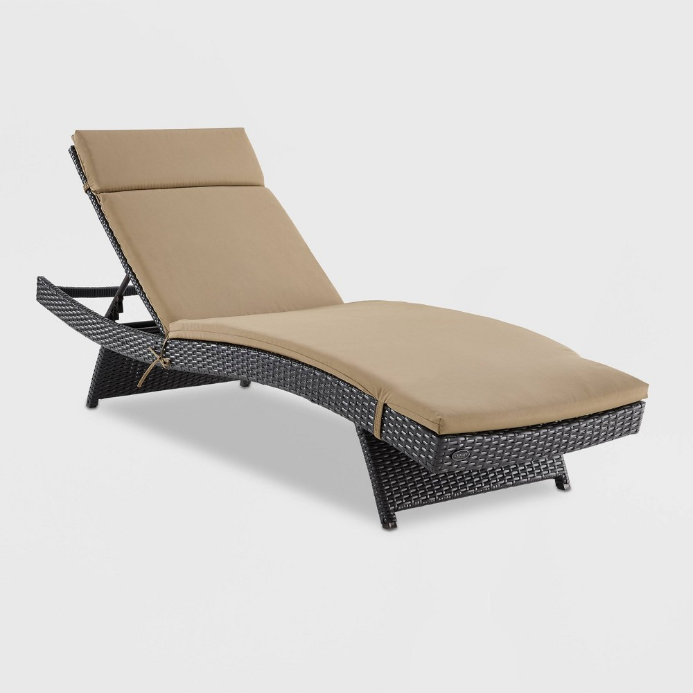 Biscayne Chaise Lounge with Mocha Cushion Brown - Crosley