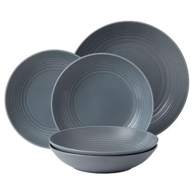 Gordon Ramsay by Royal Doulton 8oz Pasta Set Maze Dark Gray Set of 5