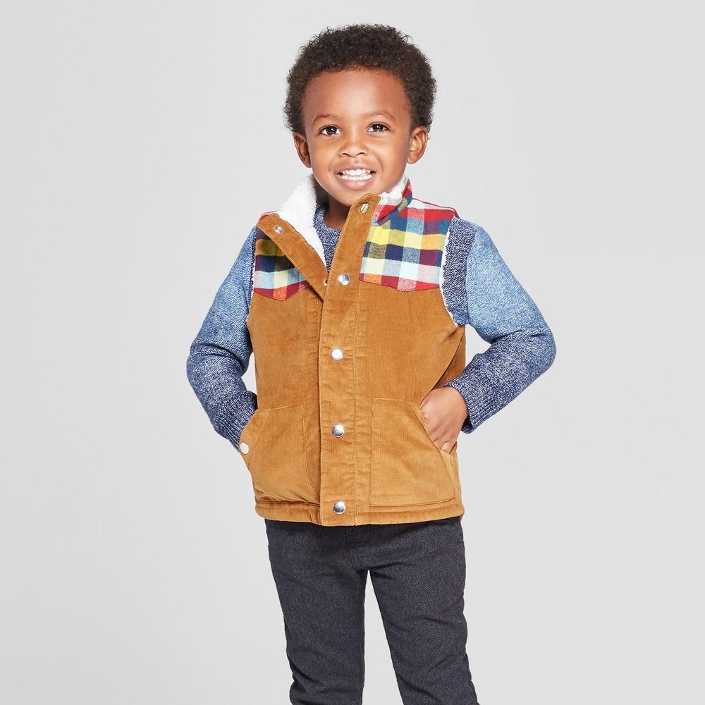 Toddler Boys' Corduroy Vest - Cat & Jack Brown 3T