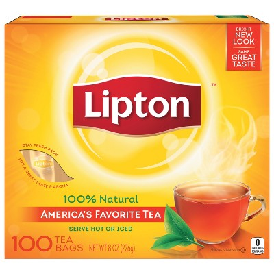 Lipton Black Tea Bags - 100ct