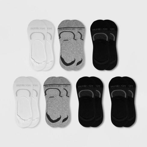 Fruit Of The Loom Women's Cooling Cotton 6+1 Bonus Pack Liner Athletic Socks - Black/White/Gray 4-10 - image 1 of 2