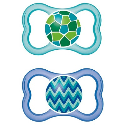 MAM Sensitive Skin Air Orthodontic Pacifier, 6+ Months, 2-Count