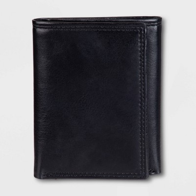 Men's RFID Trifold Wallet - Goodfellow & Co™ Black One Size
