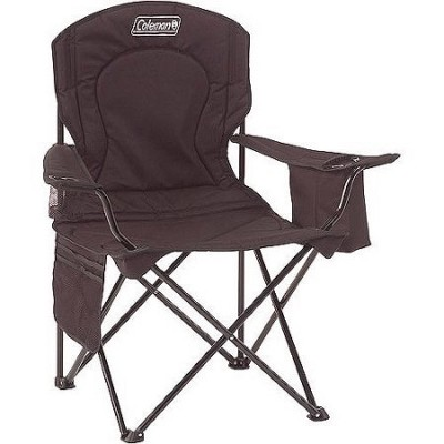 Coleman Quad Portable Camping Chair with Built-In Cooler - Black