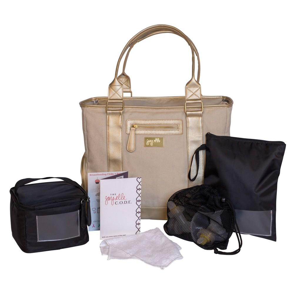 Image of jay elle Terra Breast Pump Bag & Accessories - Gold