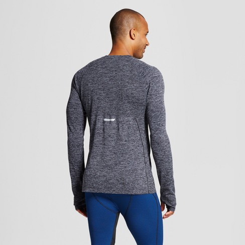 d153c2f26 Men's Long Sleeve Seamless T-Shirt - C9 Champion® Black Heather XXL : Target
