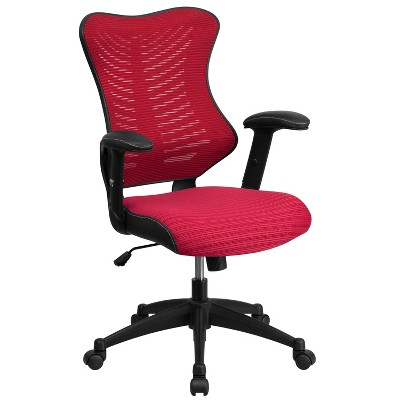 High Back Designer Mesh Executive Swivel Ergonomic Office Chair with Adjustable Arms - Riverstone Furniture