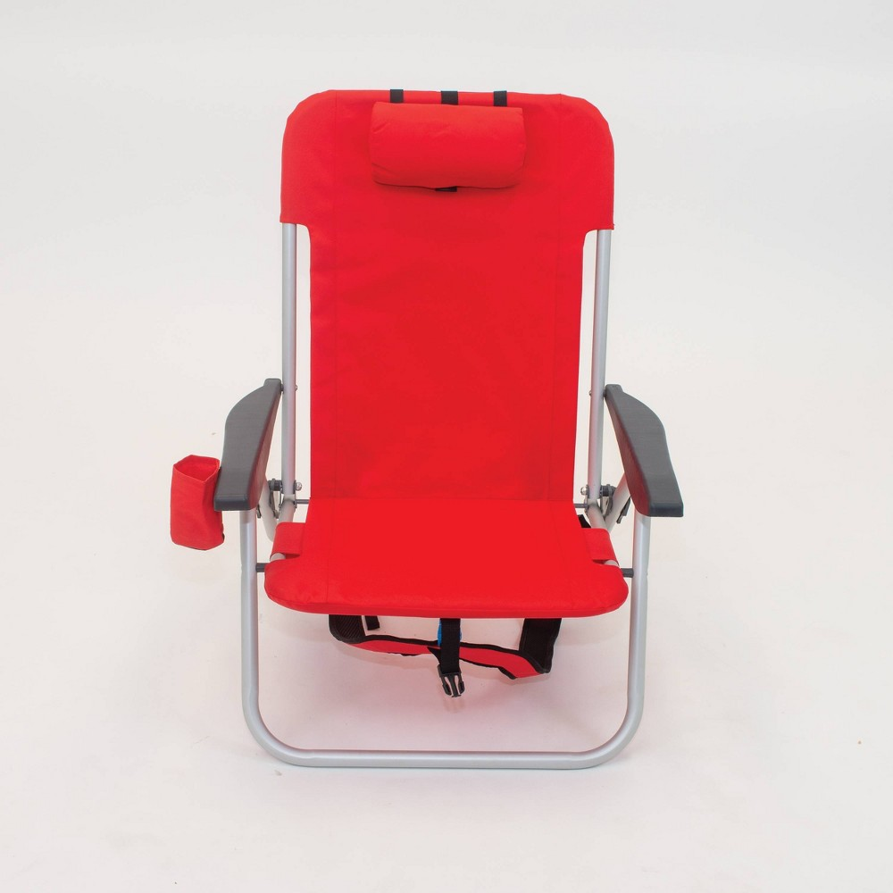 Image of 2pk Folding Backpack Chairs Red - Room Essentials