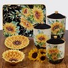 3pc Earthenware Sunflower Fields Canister Set - Certified International - image 2 of 2