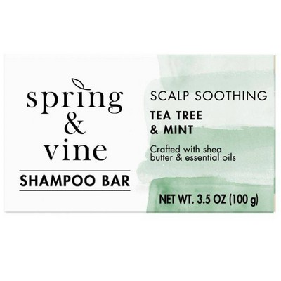 Spring & Vine Tea Tree & Mint Scalp Soothing Shampoo Bar - 3.5oz