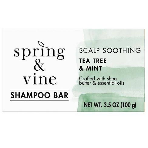 Spring & Vine Tea Tree & Mint Scalp Soothing Shampoo Bar - 3.5oz - image 1 of 4