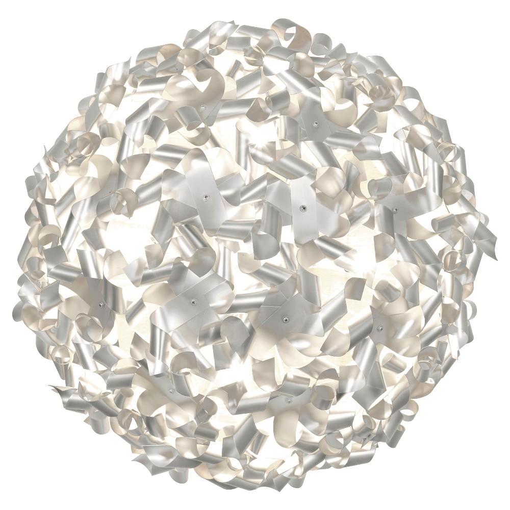 Pinwheel 8 Light Ceiling/Wall Fixture - Aluminum (Silver)