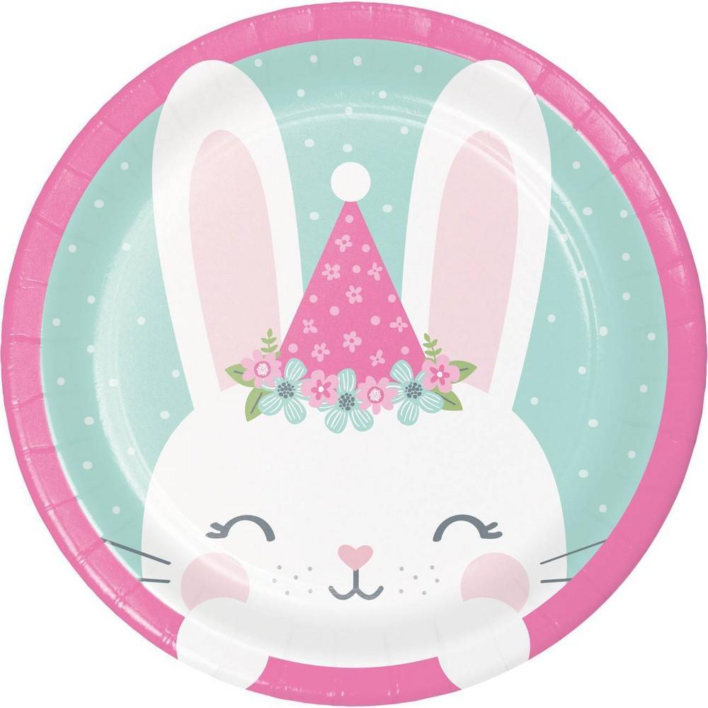 24ct Bunny Print Dessert Plates