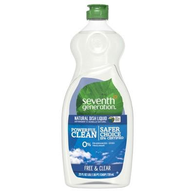 Seventh Generation Free & Clear Liquid Hand Dish Soap - 25oz