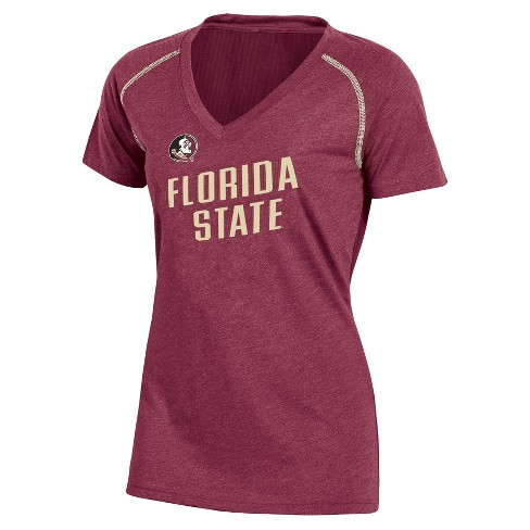 NCAA Women's Workout Warrior V-Neck Mesh Back Performance Soft-Touch T-Shirt Florida State Seminoles - image 1 of 1