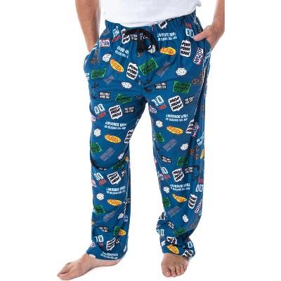 Seinfeld TV Series Men's Allover Themed Pattern Adult Sleep Pajama Pants